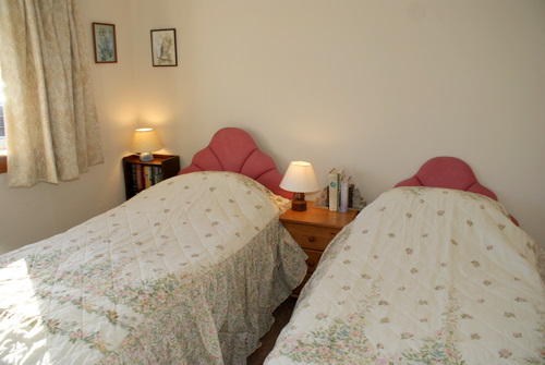 Downstairs twin bedroom, Hill View Self Catering, Shiskine, Isle of Arran